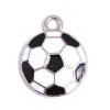 Pendant Soccer Ball Epoxy Black/White/Silver 17mm